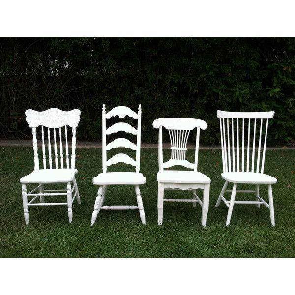 Mix Match Kitchen Chairs: Vintage Dining Chairs Set Of 4 Mix & Match White Shabby