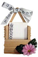 """3x5"""" Recipe Card Holder - part of a long list of popsicle stick crafts at Kaboose.com"""