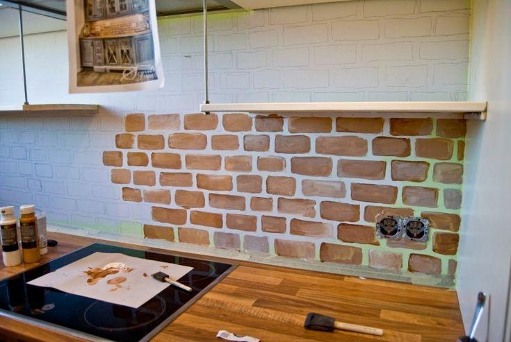 Malowane cegły w kuchni - Lovingit.pl