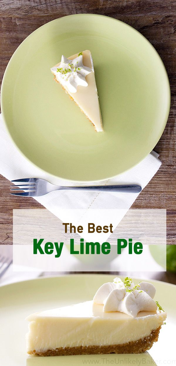Key lime pie w/ a crunchy cookie crust & melt-in-your-mouth filling. Quite possibly the best & the only key lime pie recipe you'll ever need.