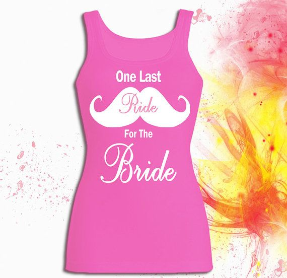 One Last Ride For The Bride Tank top T shirt T shirt by RealQount, $19.99