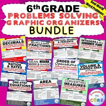 REALLY GOOD graphic organizers for introducing concepts with word problems  (6th Grade Math Common Core)