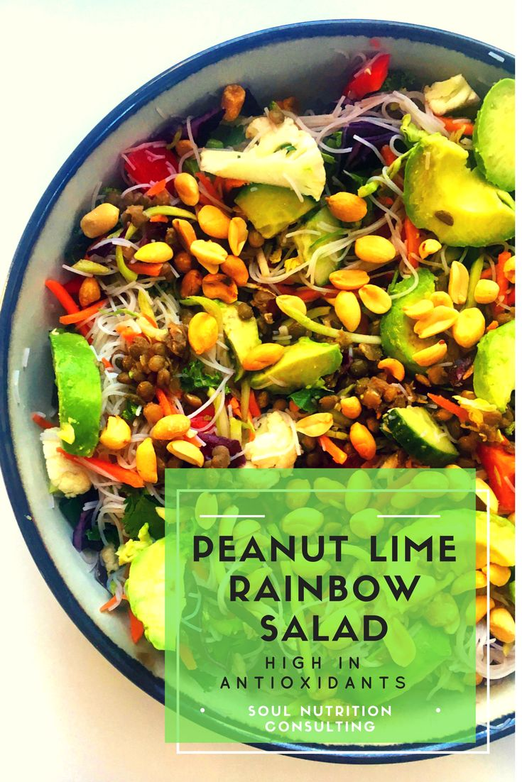 High in Antioxidants - Peanut Lime Rainbow Salad