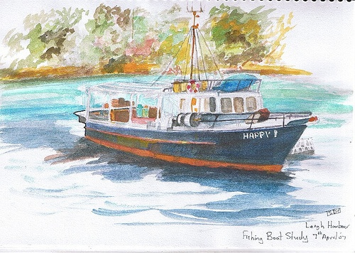 Fishing Boat Study Leigh Harbour NZ