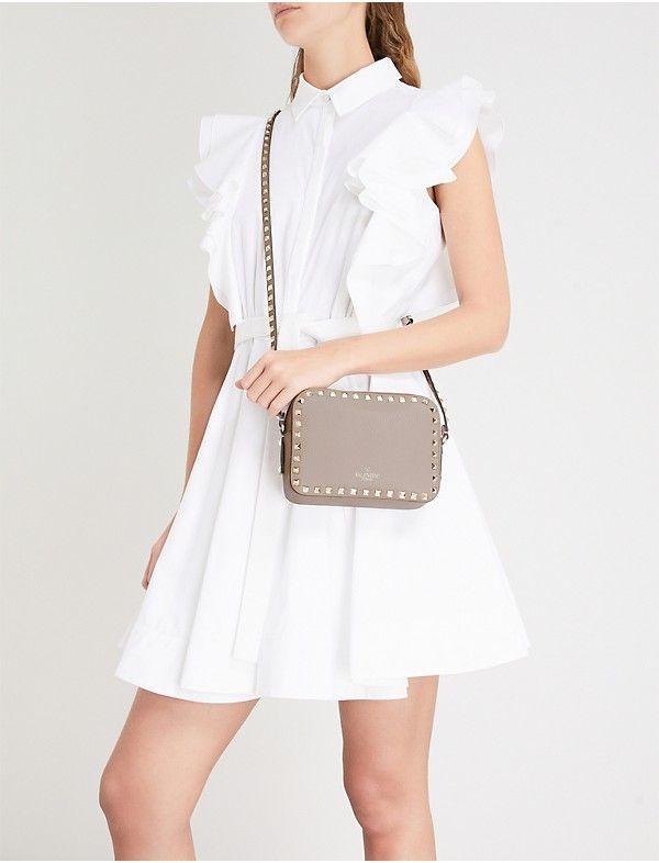 cute cheap limited quantity modern style VALENTINO Rockstud leather camera cross-body bag | Fashion ...