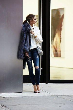 甘辛のバランスが素敵すぎるオリビア・パレルモのキレイめクラッシュクロップドスキニー スタイル ファッション コーデ♪