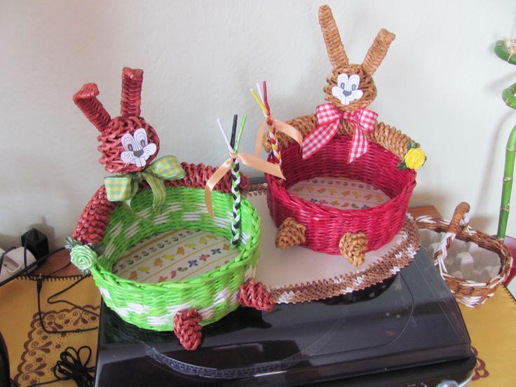 Velikonoční košíček - zajíček