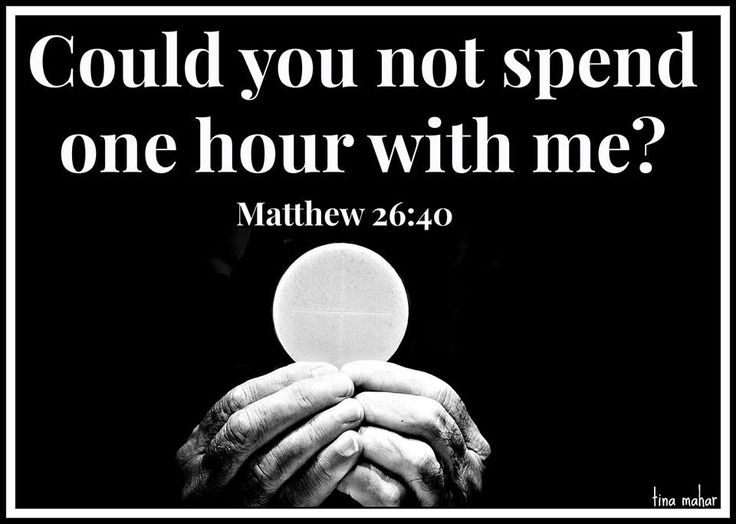 Spend as much time as you can in Eucharistic Adoration, it's like Face to Face with Jesus Christ