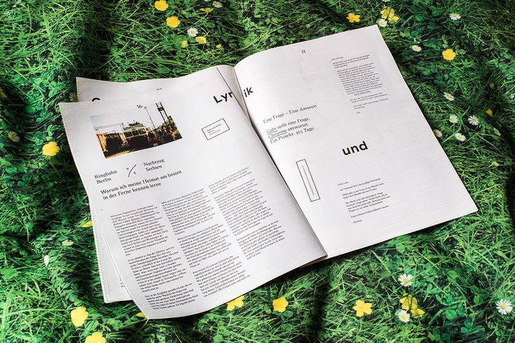 Streem is a magazine in newspaper format, which acts as a platform for artists. Homeless people get it for free, can sell it for 1,50 € and can keep the whole amount. Edition of 15.000 copies Credits:Artdirection & Design: Max Winter & Marius Land…