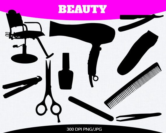 Beauty Parlor Instant Download By Pinkykatieclipart