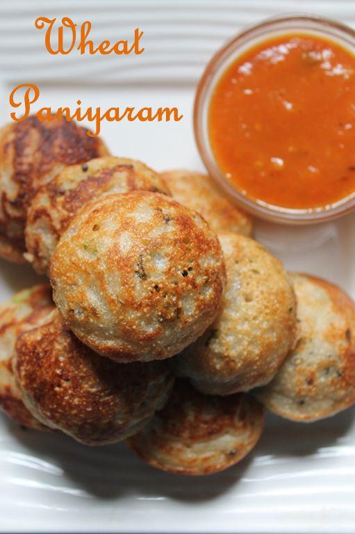 Instant Wheat Kara Kuzhi Paniyaram Recipe / Gothumai Paniyaram Recipe