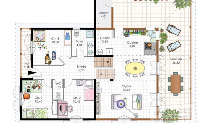 12 best PLAN MAISON images on Pinterest Future house, Dream home - plans de maison gratuit plain pied