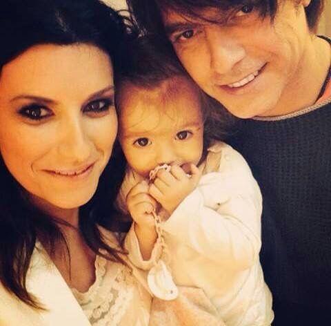 Laura Pausini e Paola Carta e Paolo Carta ❤️