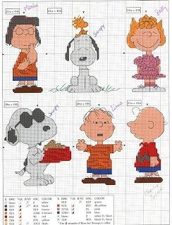Peanuts - Aguja e hilo..vamos bordar: Punto de Cruz