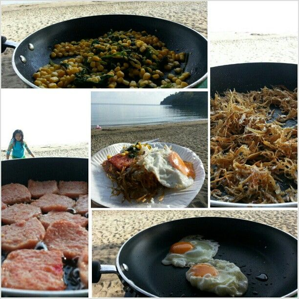 #ビーチ で#朝ごはん #cooking #breakfast at the #beach #swimming#hot#summer#夏#海水浴#海 #フィリピン#philippines#yummy#food