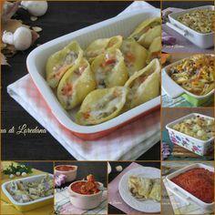 Una Raccolta di tante Ricette di Pasta al forno tutte squisite e deliziose, con funghi, con zucca, sugo o con besciamella. Ma anche riso e gnocchi al forno