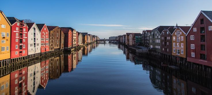 The wharfs at the river Nidelven is a-must-see in Trondheim - Photo: Sven-Erik Knoff