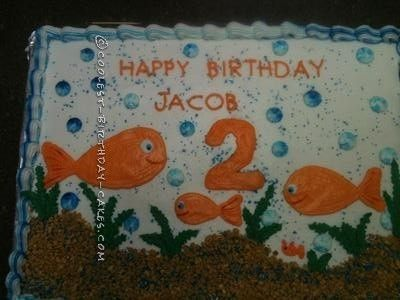 Cool Goldfish Cake... This website is the Pinterest of birthday cake ideas