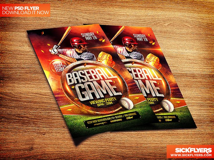 205 best DRIBBBLE PSDS images on Pinterest Flyer template, Role - baseball flyer