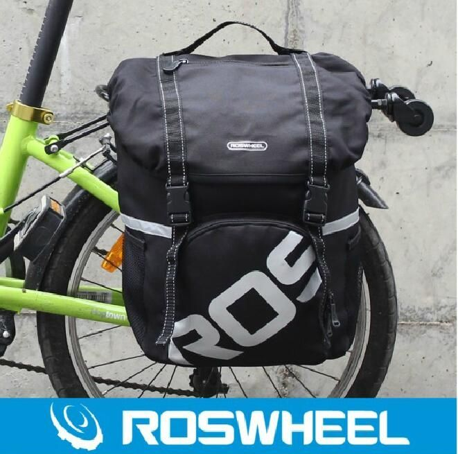 ROSWHEEL dazzle cycling equipment Cycling carry bag waterproof shelves after unilateral bag cycling  bicycle commuting bag