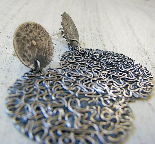 Oxidized sterling silver hoop earrings ~ SOLD~