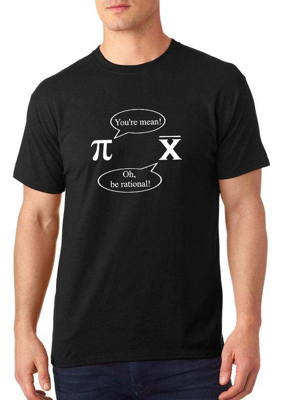SALE ** Pi and Mean t shirt, customized t shirt, funny t shirt, nerdy t shirt, Men and Women, TEEddictive, pi t shirt