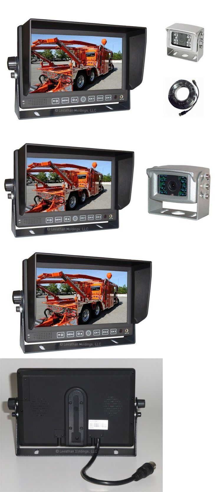 """Rear View Monitors Cams and Kits: 7"""" Digital Rear View Backup Camera System Color Reverse Night Vision Audio Rv 1 BUY IT NOW ONLY: $99.99"""