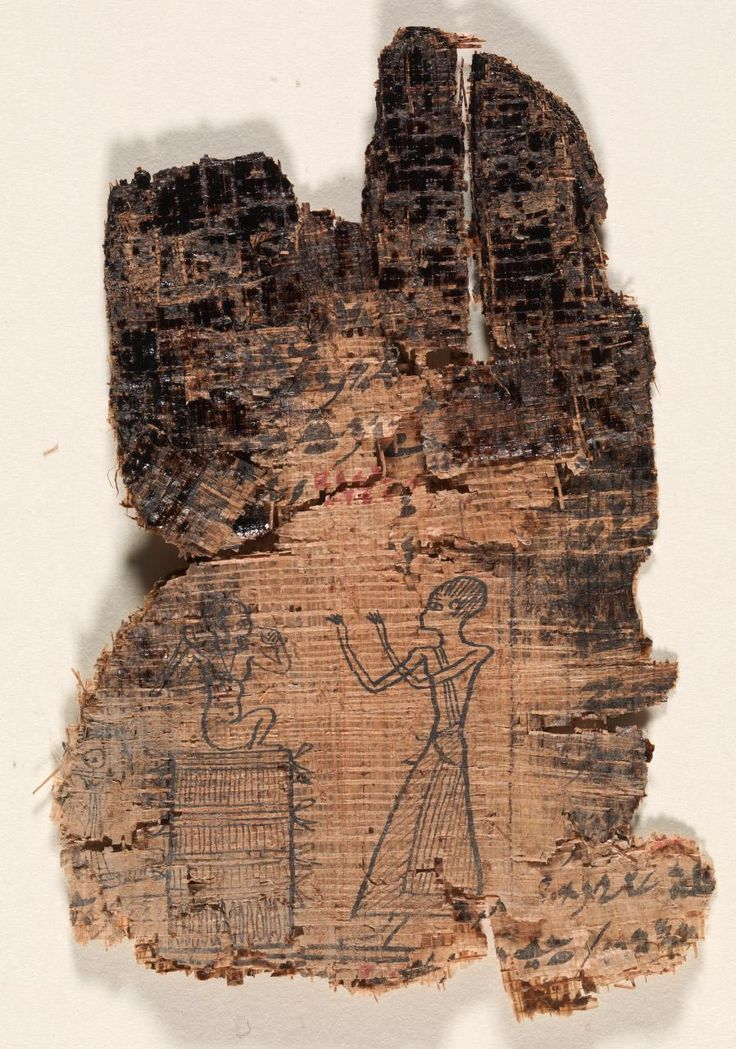~Fragments of inscribed papyrus. Period: Late Period Dynasty: Dynasty XXVI Date: 664 BCE-525 BCE Place of origin: Egypt Medium: papyrus