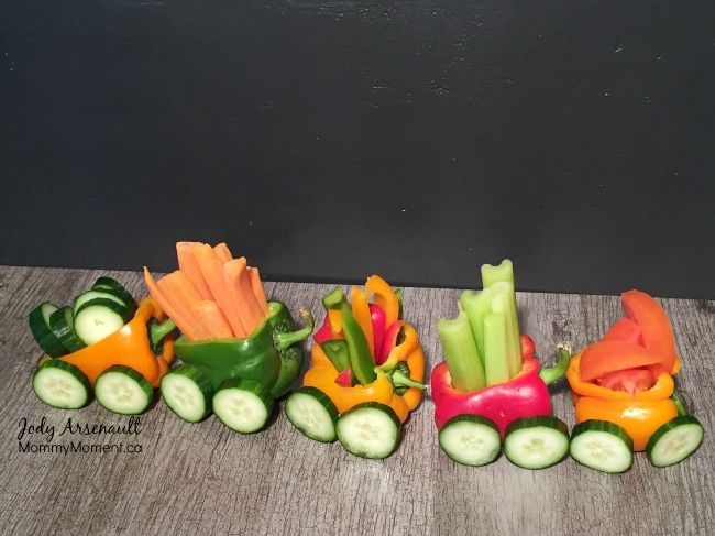 EASY Veggie Train Snack for Kids - Mommy Moment