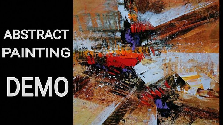 Abstract painting / acrylic Abstract painting DEMO / EASY #abstractartpaintingstoinspire