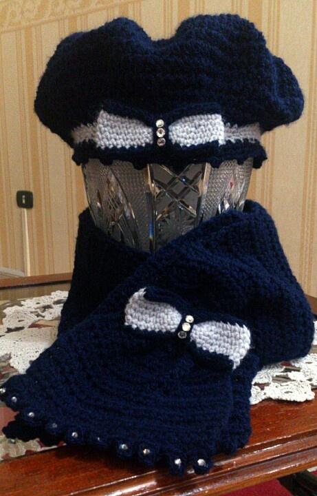 A lovely crochet set for a little girl