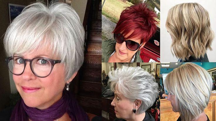 60 moderne Frisuren und Frisuren für Frauen über 50 #frauen #styles #modern ...