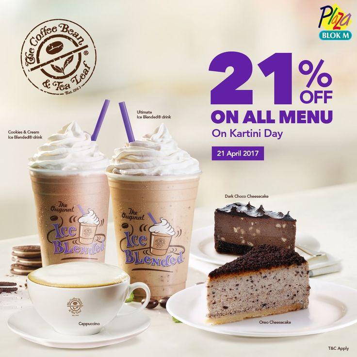The Coffee Bean Promo Hari Kartini http://www.perutgendut.com/read/the-coffee-bean-promo-hari-kartini/5745 #PerutGendut #Food #Kuliner #News #Indonesia #WisataKuliner