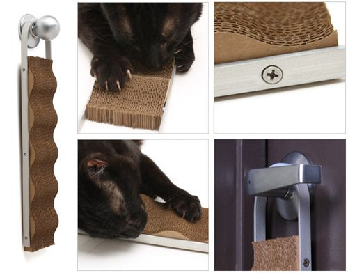 25 best ideas about cardboard cat scratcher on pinterest cheap cat scratching post homemade - Modern cat scratcher ...