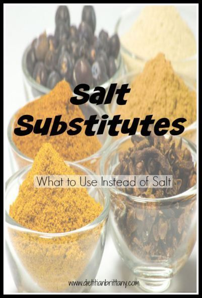 Salt Substitutes - what to use instead of salt. www.yourchoicenutrition.com                                                                                                                                                                                 More