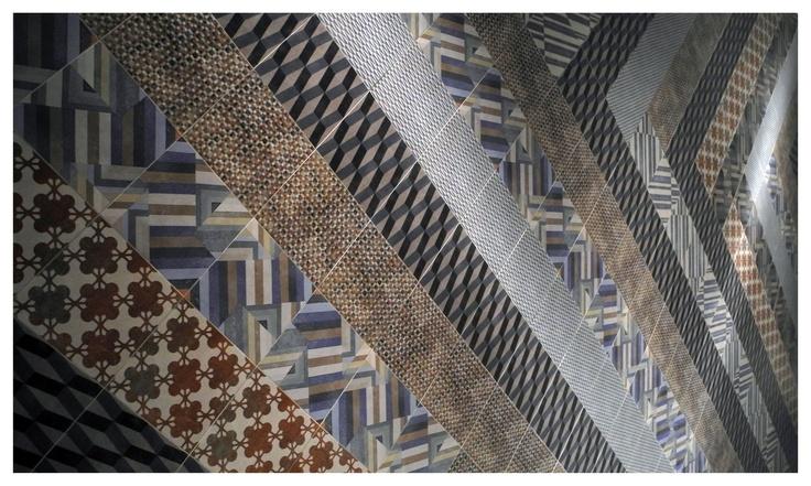 Azulej tiles by Patricia Urquiola for Mutina  at Salone Internazionale del Bagno 2012