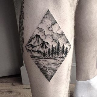 This beautiful lochside scene. | 22 Magical Scottish Animal And Nature Tattoos That You'll Love