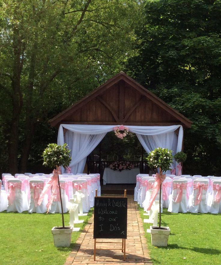 broyle place ringmer - sussex wedding venue.ask us about bay tree hire, personalised signs and wedding aisle posts with your chair covers all from pollen4hire