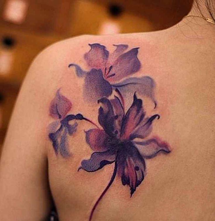 Violet flower tattoo designs #armtattoosdesigns