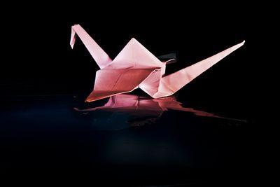 Der japanische Volksglaube besagt, daß jemand von den Göttern einen Wunsch erfüllt bekommt, wenn er 1000 Origami-Kraniche faltet. Ich wünsche frohes Basteln! / It is a popular belief that somebody gets a wish granted by their gods, once he folds 1000 origami cranes. Have fun while folding!    Bildquelle / Photo Credits: Günther Gumhold / pixelio.de