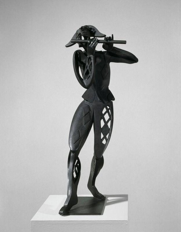 Pablo Gargallo  1881 - 1934  Arlequin   224  la fl  251 te  Grand Arlequin    Pablo Gargallo Sculpture