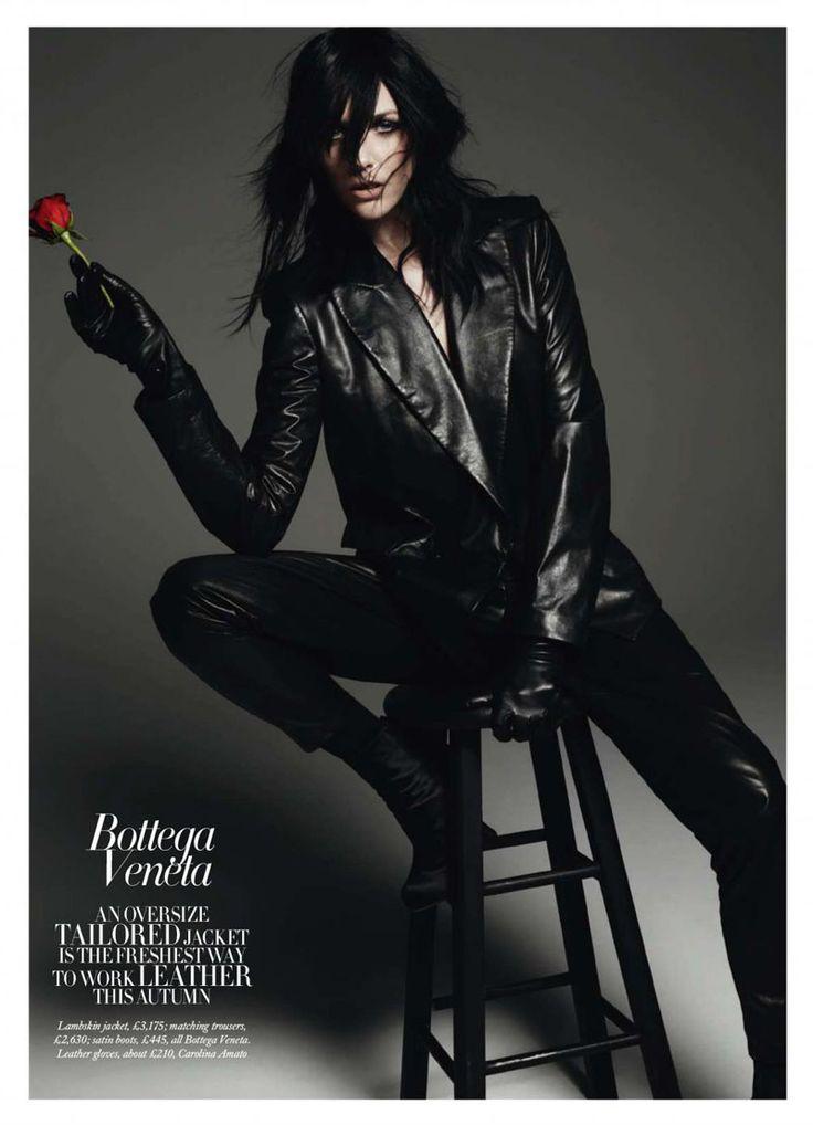 Hannelore Knuts by Michel Comte for Harper's Bazaar UK August 2010