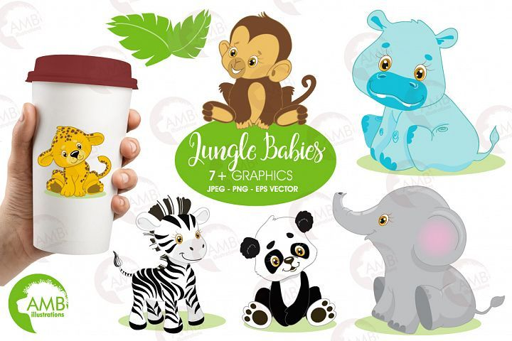 these cute safari or jungle animal babies are so cute and barely rh pinterest com Fruits and Vegetables Clip Art Artist Clip Art