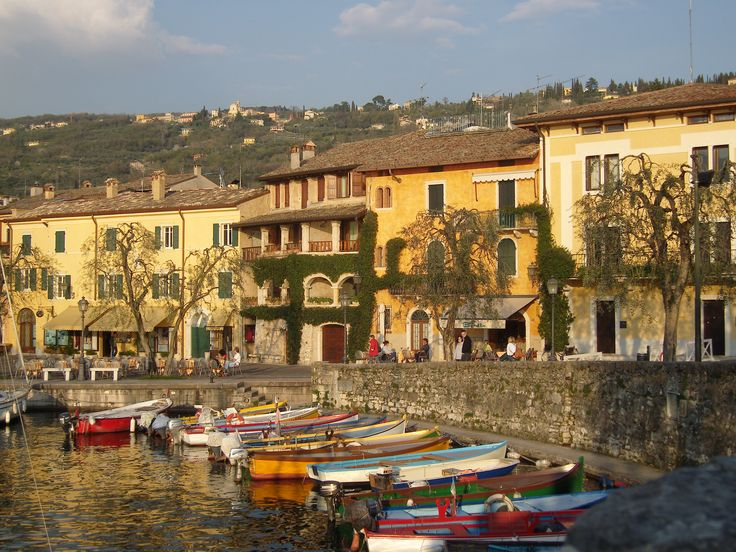 A small cute town called Torri Del Benaco on Lake Garda in Italy.