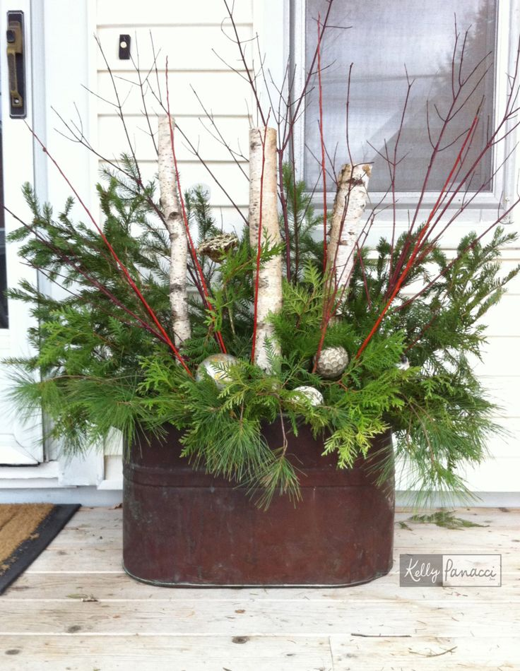 Kelly Panacci's Winter porch container