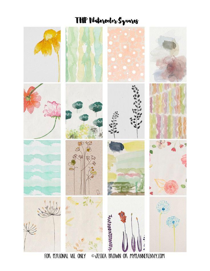 My Planner Envy: Watercolor Weekly Squares - Free Planner Printable