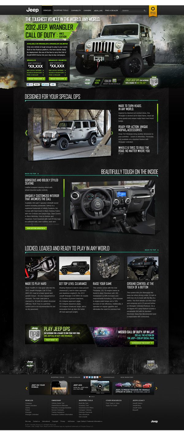 Best Automotive Web Design Images On Pinterest Website - Cool car websites