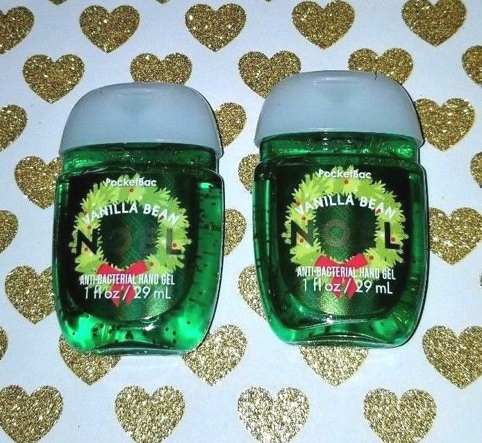 Bath Body Works Vanilla Bean Noel Pocketbac Hand Sanitizer Gels