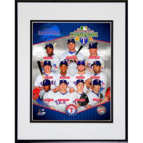 Texas Rangers 2011 American League Champions Team Composite 8x10 Framed Photo
