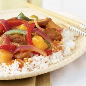 http://onceamonthcook.com/sweet-and-sour-pork/  Sweet & Sour pork recipe
